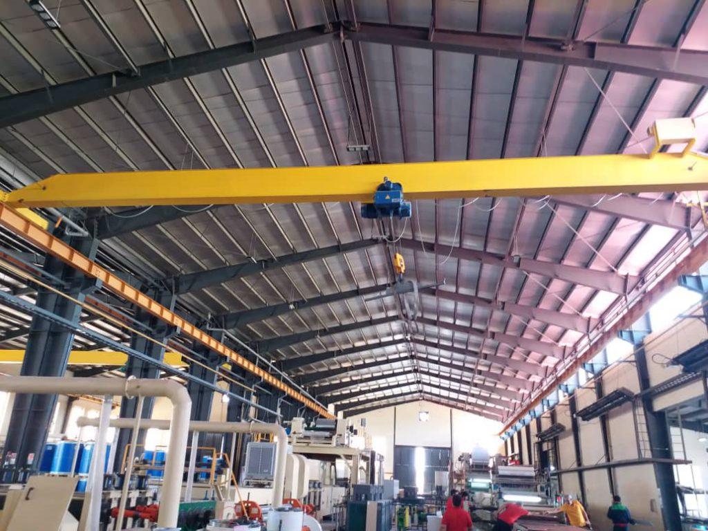 نصب و راه اندازی جرثقیل سقفی فراز صنعت